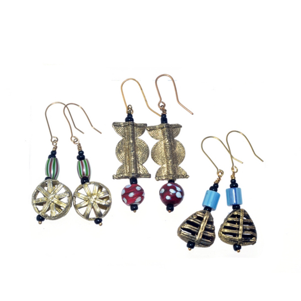 Antique Beaded Earrings