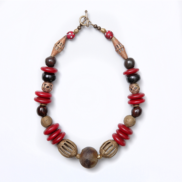 Gorgeous Gorgeous 1 - Ghana Glass & Red Amber
