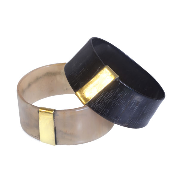 Nguni Medium Horn Bracelet with Brass